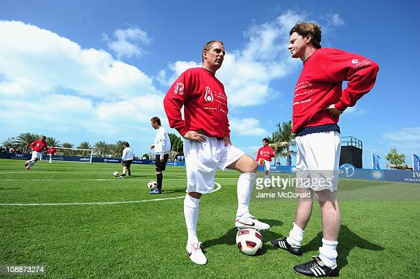 Ronald de Boer and Steve McManaman during the Laureus Football Challenge presented by IWC Schaffhausen as part of the 2011 Laureus World Sports...