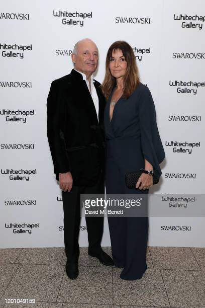 Ronald Dennis and Carol Weatherall attend a glamorous gala dinner as Francis Alys is celebrated as Whitechapel Gallery Art Icon with Swarovski on...