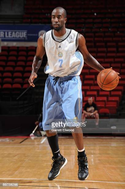 Ronald Dupree of the Denver Nuggets surveys the court against the Washington Wizards during NBA Summer League presented by EA Sports on July 15 2009...