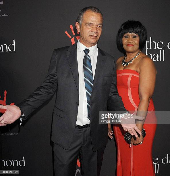 Ronald Fenty and Monica Braithwaite arrive at Rihanna's First Annual Diamond Ball at The Vineyard on December 11 2014 in Beverly Hills California