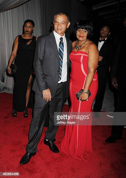 Ronald Fenty and Monica Braithwaite attend Rihanna's First Annual Diamond Ball at The Vineyard on December 11 2014 in Beverly Hills California