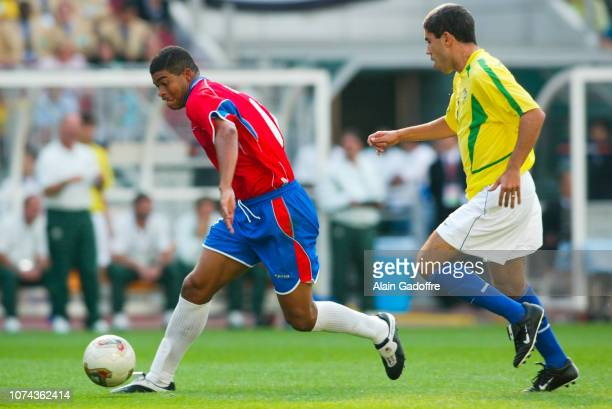 Ronald GOMEZ and RICARDINHO during the 2002 FIFA World Cup match between Costa Rica and Brazil on June 13 2002 in Suwon Stadium South Korea