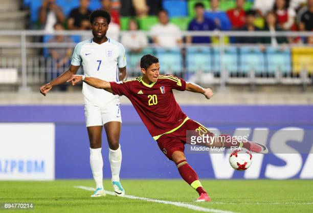 Ronald Hernandez of Venezuela shoots during the FIFA U20 World Cup Korea Republic 2017 Final between Venezuela and England at Suwon World Cup Stadium...