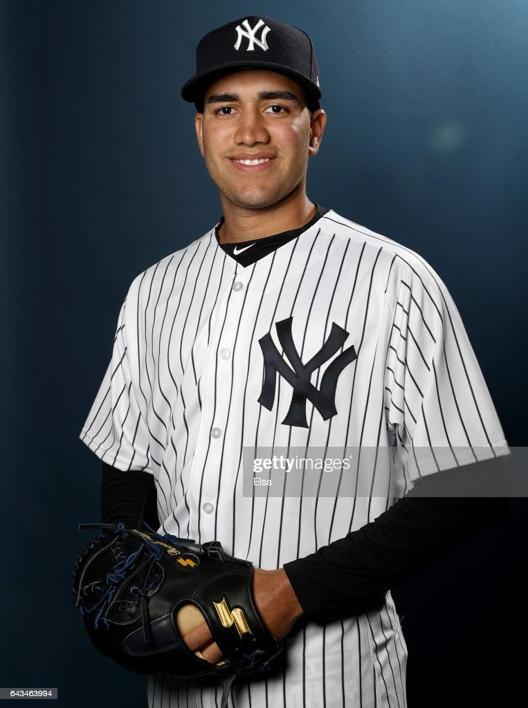 Ronald Herrera #96 of the New York Yankees poses for a portrait during the New York Yankees photo day on February 21, 2017 at George M. Steinbrenner Field in Tampa, Florida.