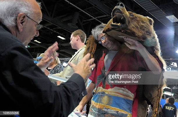 WASHINGTON DC AUGUST 21 Ronald Hrabal from NJ brought this grizzly bear skin to the Antiques Roadshow for appraisal Ronald says the bear skin once...