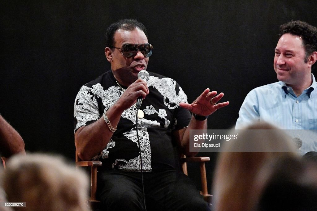 Ronald Isley (L) and Alan Light attend the Santana and The Isley Brothers Media Event at Electric Lady Studio on August 1, 2017 in New York City.