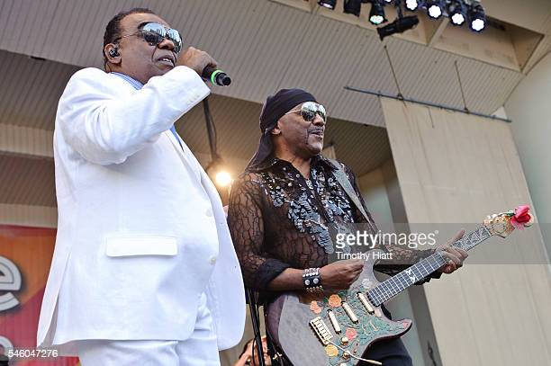 Ronald Isley and Ernie Isley of The Isley Brothers perform on Day 5 of the Taste Of Chicago at Grant Park on July 10 2016 in Chicago Illinois