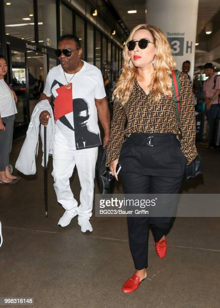 Ronald Isley and his wife Kandy are seen on July 13 2018 in Los Angeles California