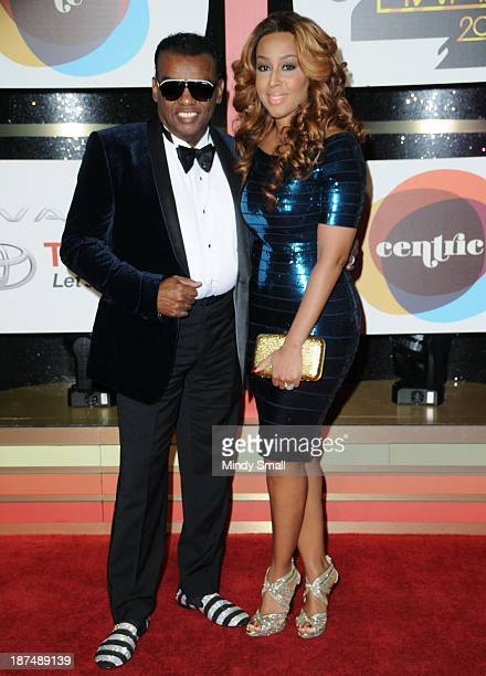 Ronald Isley and Kandy Johnson Isley arrive at the Soul Train Awards 2013 at the Orleans Hotel Casino on November 8 2013 in Las Vegas Nevada