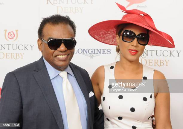 Ronald Isley and Kandy Johnson Isley attend 140th Kentucky Derby at Churchill Downs on May 3 2014 in Louisville Kentucky