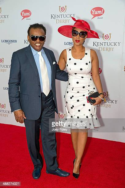 Ronald Isley and Kandy Johnson Isley attends the 140th Kentucky Derby at Churchill Downs on May 3 2014 in Louisville Kentucky