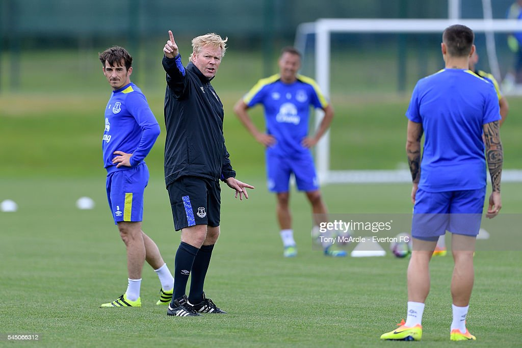 Ronald Koeman Takes Charge of His First Training Session at Everton : News Photo