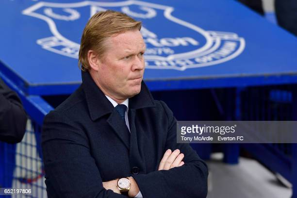 Ronald Koeman before the Premier League match between Everton and West Bromwich Albion at the Goodison Park on March 11 2017 in Liverpool England