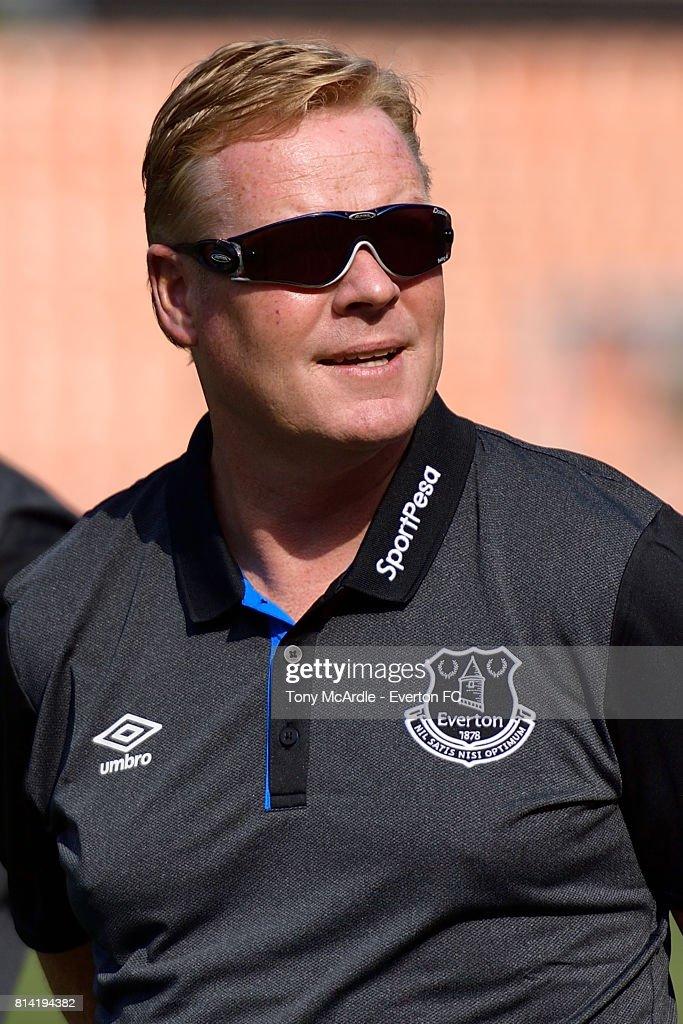 Ronald Koeman before the pre-season match between Everton and Gor Mahia in Dar-Es-Salaam on July 12, 2017 in Tanzania.