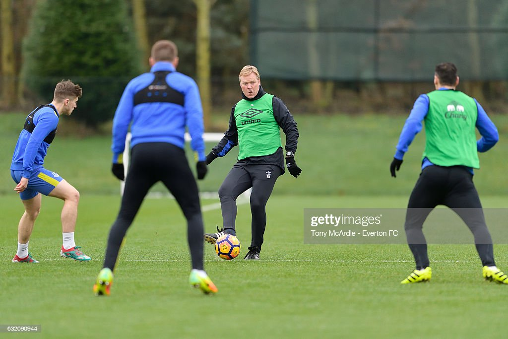 Ronald Koeman during the Everton FC training session at USM Finch Farm on January 19, 2017 in Halewood, England.