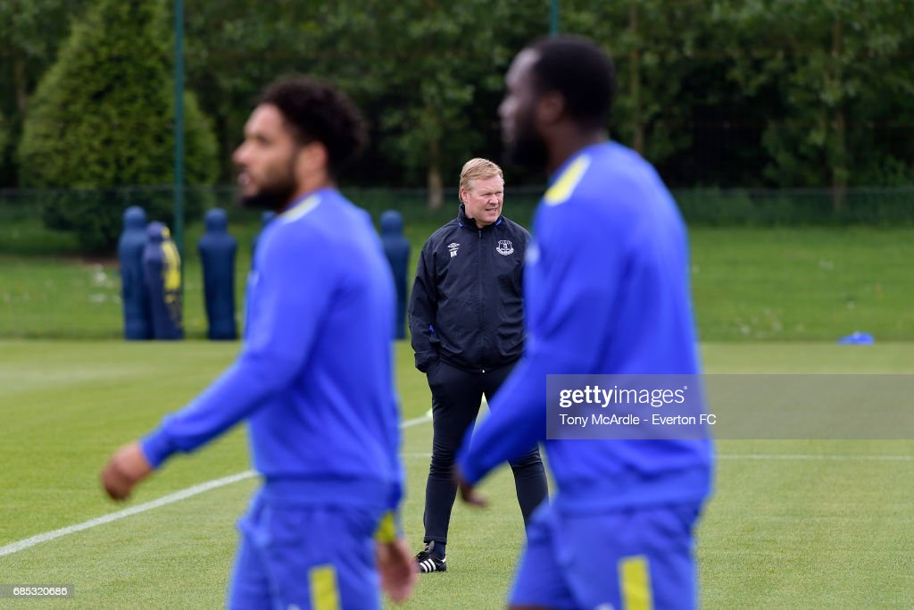 Ronald Koeman during the Everton FC training session at USM Finch Farm on May 19, 2017 in Halewood, England.