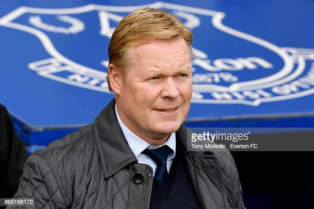 Ronald Koeman during the Premier League match between Everton and Arsenal at Goodison Park on October 22 2017 in Liverpool England