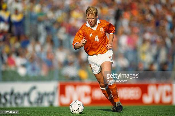 Ronald Koeman from the Netherlands during a first round game of the 1992 UEFA European Football Championship against Scotland