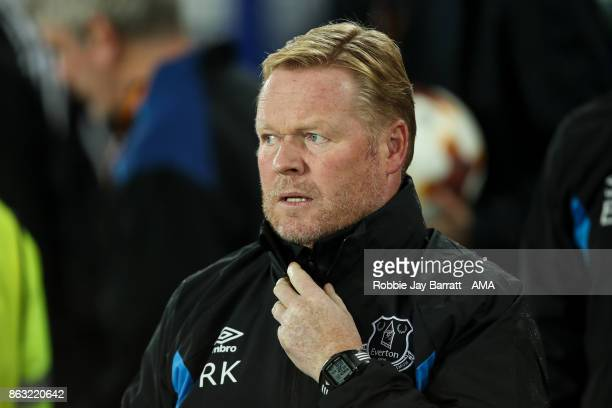 Ronald Koeman head coach / manager of Everton during the UEFA Europa League group E match between Everton FC and Olympique Lyon at Goodison Park on...
