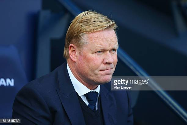 Ronald Koeman manager of Everton looks on prior to the Premier League match between Manchester City and Everton at Etihad Stadium on October 15 2016...