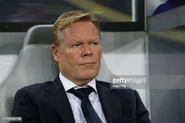 Ronald Koeman manager of the Netherlands looks on prior to the UEFA Euro 2020 qualifier match between Germany and Netherlands at Volksparkstadion on...
