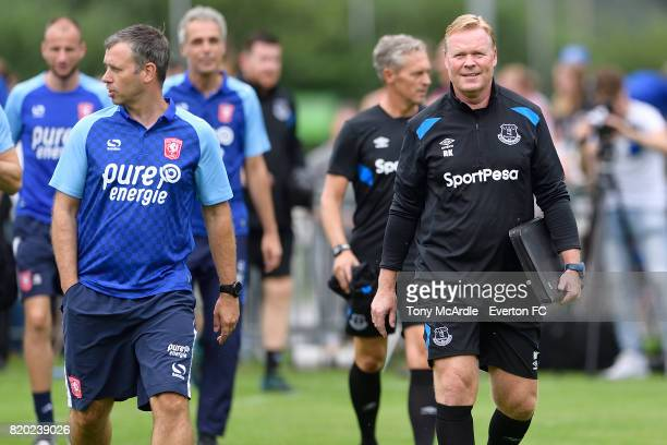 Ronald Koeman of Everton before the preseason friendly match between FC Twente and Everton FC on July 19 2017 in De Lutte Netherlands