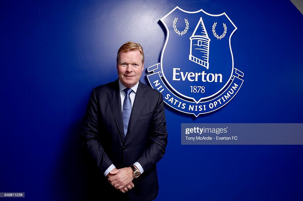 New Everton Manager Ronald Koeman Press Conference : News Photo