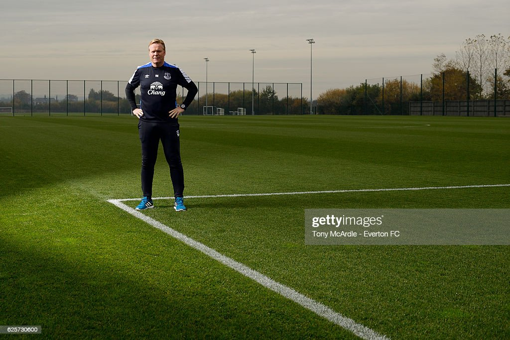 Ronald Koeman poses for a photograph at Finch Farm on November 8, 2016 in Halewood, England.