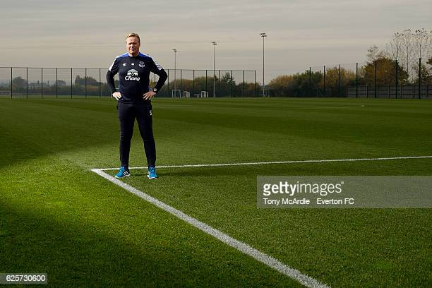Ronald Koeman poses for a photograph at Finch Farm on November 8 2016 in Halewood England