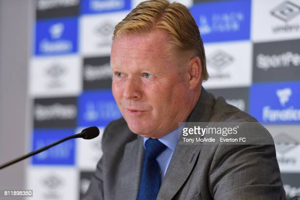 Ronald Koeman speaks to the press at Goodison Park on July 10 2017 in Liverpool England