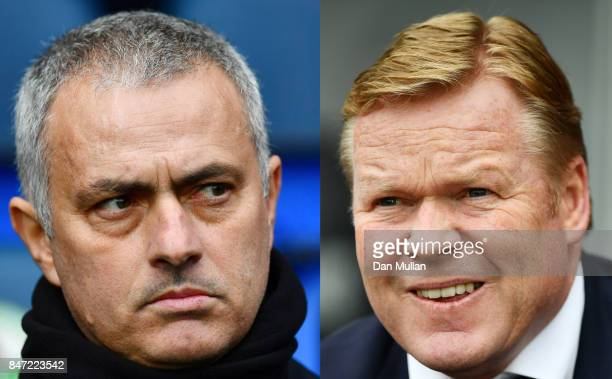 COMPOSITE OF TWO IMAGES Image numbers 642889996 and 679674950 In this composite image a comparison has been made between Jose Mourinho manager of...