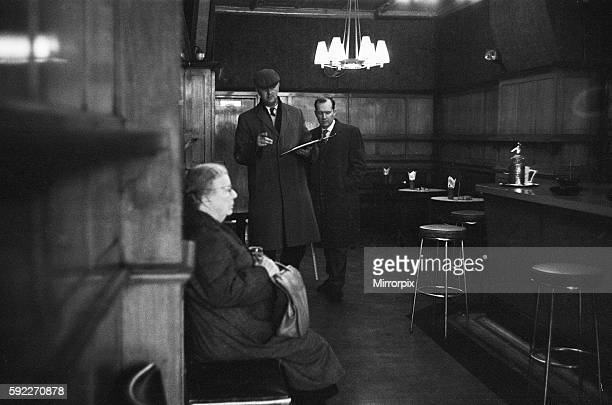 Ronald Kray was charged with his murder Police detectives in the saloon conducting their enquiries and gathering evidence 11th March 1966