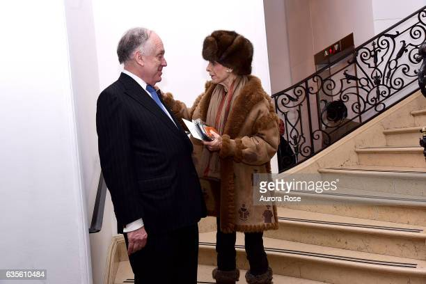 Ronald Lauder and Annette de la Renta attend Alexei Jawlensky Opening Reception at the Neue Galerie at 1048 5th Ave on February 15 2017 in New York...