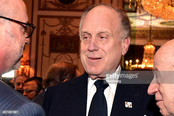 Ronald Lauder, founder and non-executive chairman of Central European Media Enterprises Ltd., center, attends a gala for the Conference of Presidents...