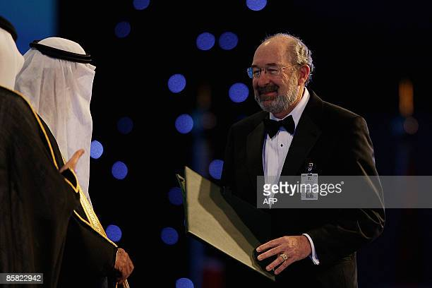 Ronald Levy the head of the Oncology department at Stanford University's Medical School in the United States receives the King Faisal 2009 award for...