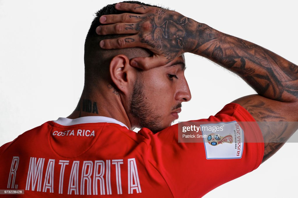 Ronald Matarrita #22 of Costa Rica poses for a portrait during the official FIFA World Cup 2018 portrait session at the Hilton Saint Petersburg ExpoForum on June 13, 2018 in Saint Petersburg, Russia.