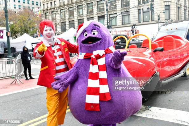 Ronald McDonald and Grimace appear in the 94th Annual Macy's Thanksgiving Day Parade¨ on November 24, 2020 in New York City. The World-Famous Macy's...