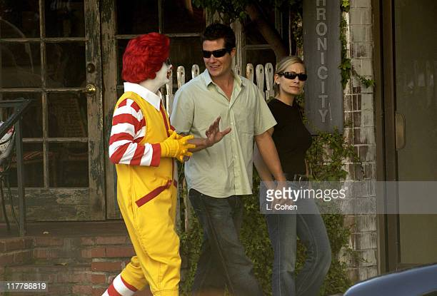 Ronald McDonald Andrew Firestone Jen Schefft in front of the Ivy