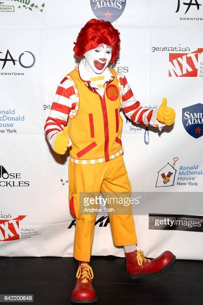 Ronald McDonald attends a Charity Fundraiser for Ronald McDonald House New York hosted by Generation NXT at TAO Downtown on February 16 2017 in New...