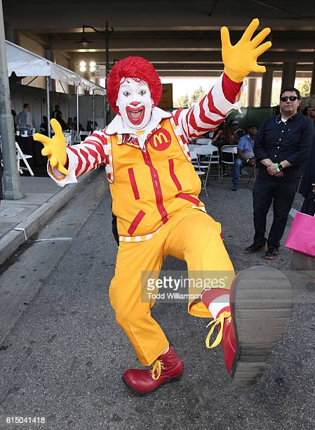 Ronald McDonald attends McDonald's 10th Annual Inspiration Celebration Gospel Tour at the Taste of Soul Festival on October 15 2016 in Los Angeles...