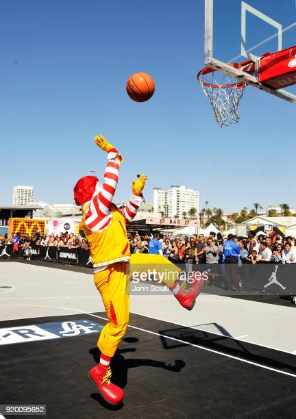 Ronald McDonald attends McDonald's at Bleacher Report AllStar Experience on February 18 2018 in Santa Monica California