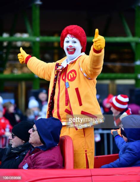 Ronald McDonald attends the 92nd Annual Macy's Thanksgiving Day Parade on November 22 2018 in New York City