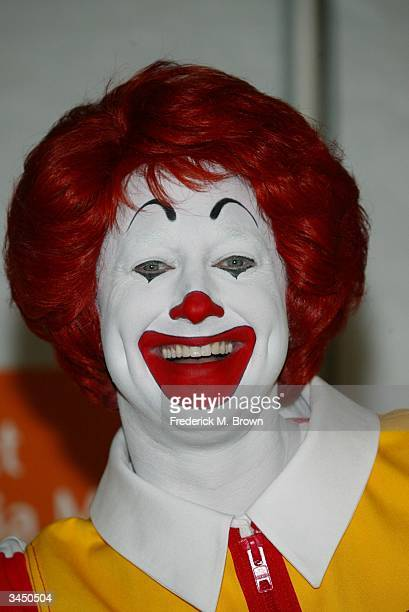 Ronald McDonald attends the Go Active American Challenge at McDonald's on April 20 2004 in Los Angeles California