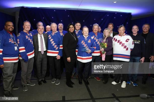 Ronald McDonald House New York's Jerome Kelton and Ruth C Browne New York Rangers Alumni Stephane Matteau Ron Greschner Nick Fotiu Pete Stemkowski...