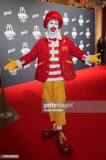 Ronald McDonald impersonator during the McDonald's Benefiz Gala benefit to McDonald's Kinderhilfe Stiftung at hotel Bayerischer Hof on November 10...