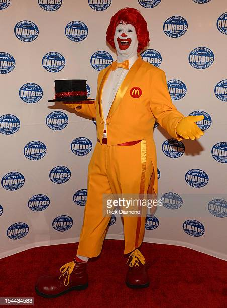 Ronald McDonald on the Red Carpet at the Inspirational Country Music Awards on October 18 2012 in Nashville Tennessee