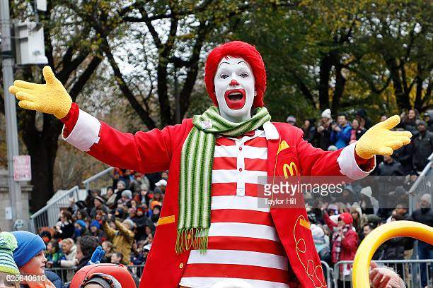 Ronald McDonald rides in the Macy's Thanksgiving Day Parade on November 24 2016 in New York City