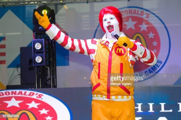 Ronald McDonald speaks at McDonald's All American Games Fan Fest at Atlantic Station on March 25 2018 in Atlanta Georgia