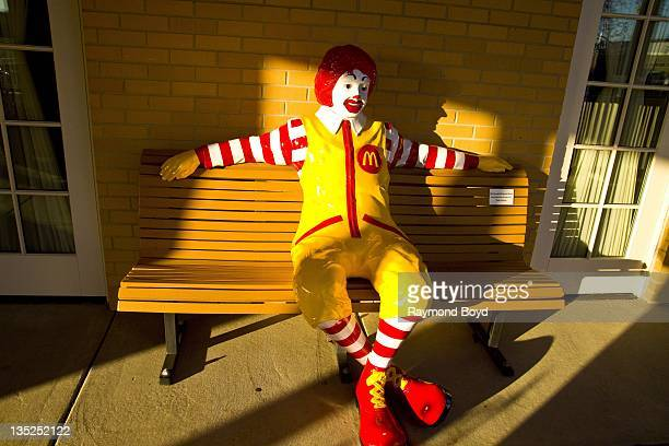 Ronald McDonald statue sits on the porch of the Ronald McDonald House in Chicago Illinois on NOVEMBER 15 2011
