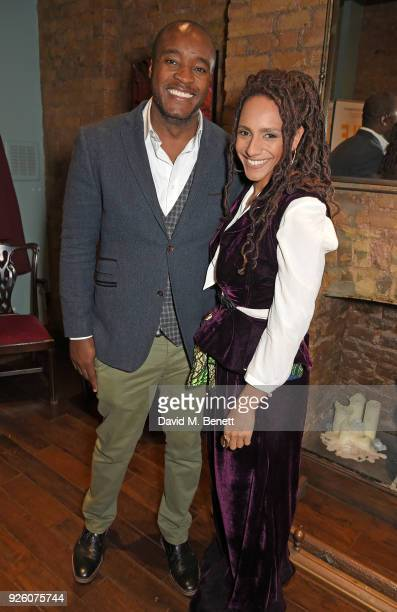 Ronald Ndoro and Afua Hirsch attend the launch of the 'London's Big Read' campaign in celebration of World Book Day at LIBRARY on March 1 2018 in...
